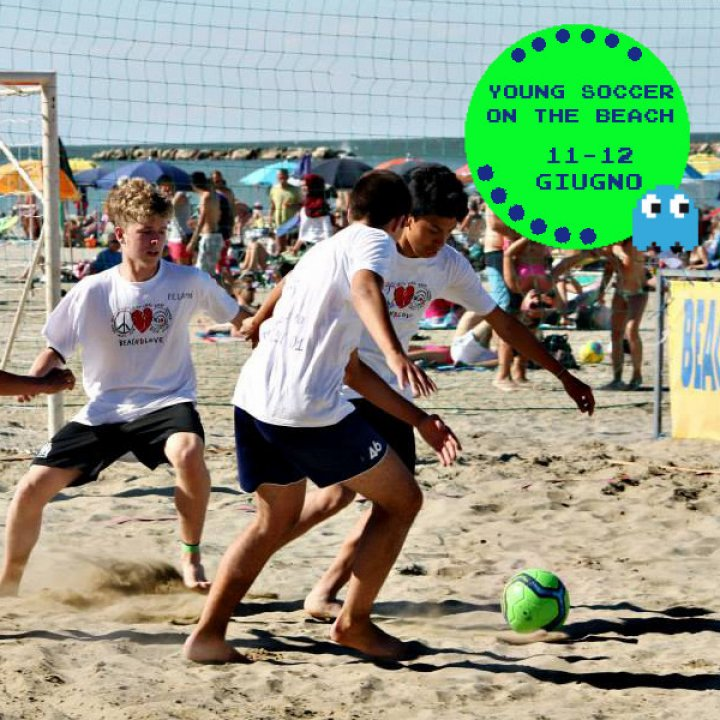 YOUNG SOCCER ON THE BEACH