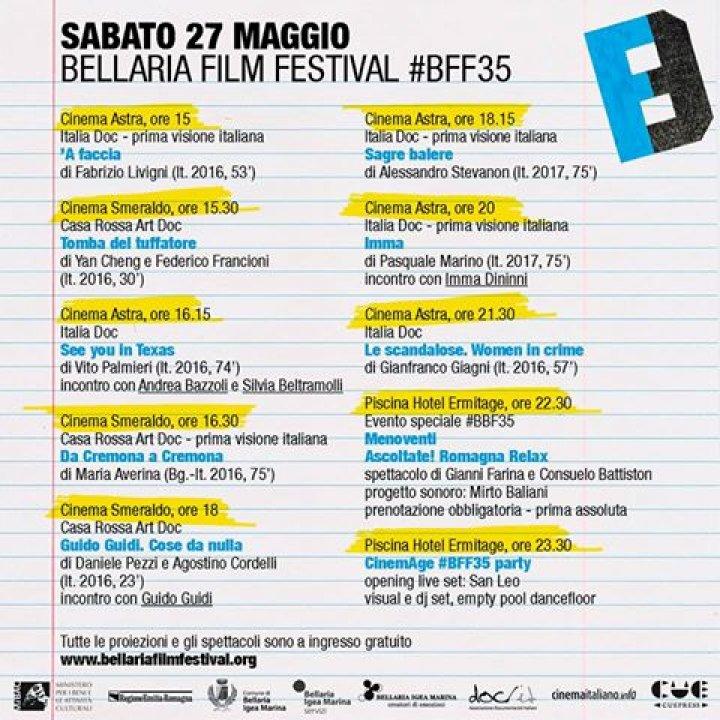 Bellaria Film Festival: 35° edizione dedicata ad Alberto Farassino
