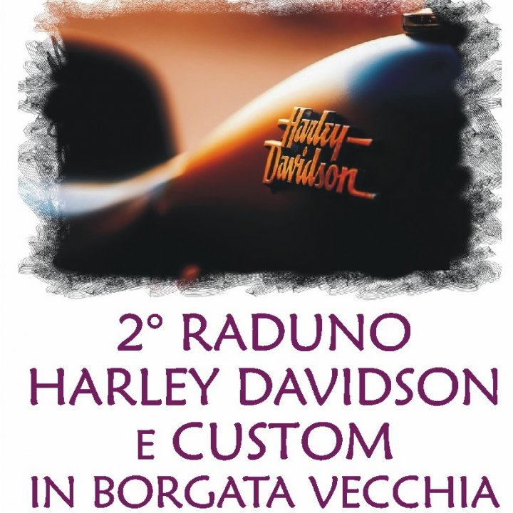 2° RADUNO HARLEY DAVIDSON E CUSTOM IN BORGATA VECCHIA