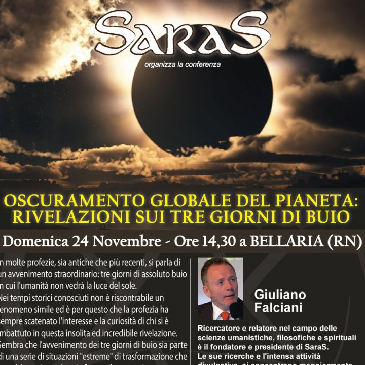 SEMINARIO | OSCURAMENTO GLOBALE DEL PIANETA, PROFEZIE E RIVELAZIONI