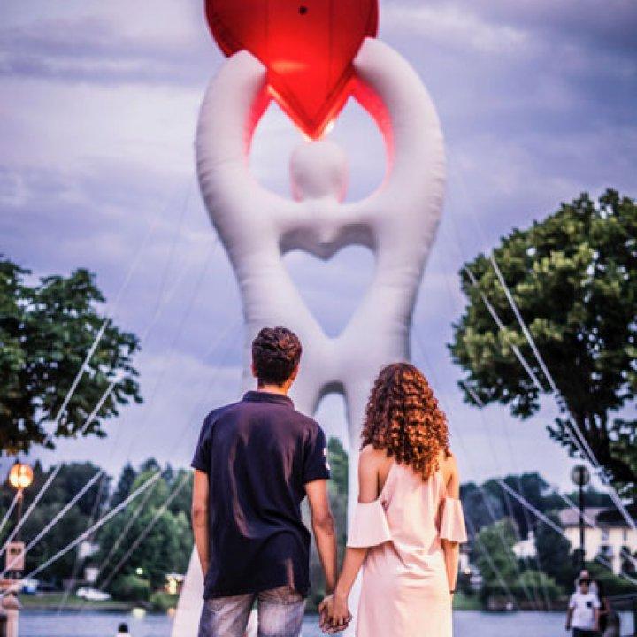 L'amore è a Bellaria Igea Marina: a febbraio, il centro città si tinge di dolcezza