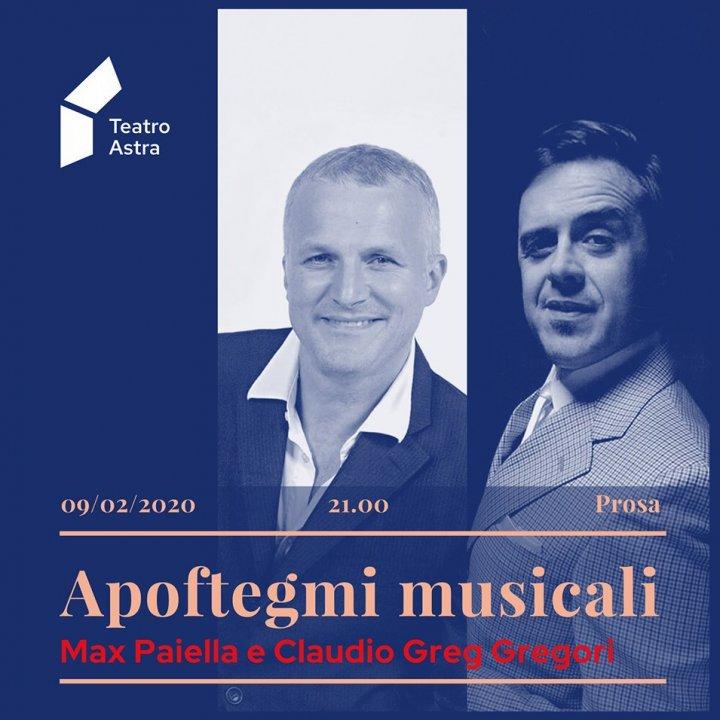 APOFTEGMI MUSICALI | MAX PAIELLA E CLAUDIO GREG GREGORI