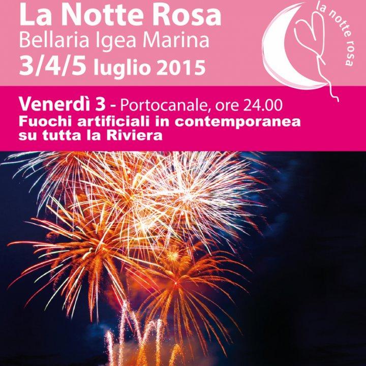 FUOCHI D'ARTIFICIO NOTTE ROSA