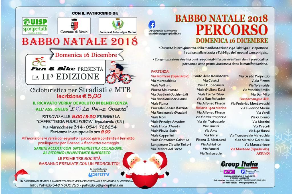 Il Percorso Di Babbo Natale.Cicloturistica Babbo Natale 2018 Bellaria Igea Marina